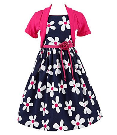 Rare Editions Kids Dress, Little Girls Ribbon Bow Front Dress ...