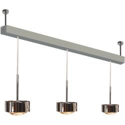 Photo of Top Light Puk Maxx Choice Long One + pendant light 3 heads anthracite-chrome 85cm Led Top LightTop Lig