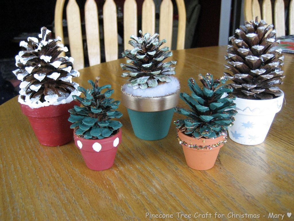 Christmas Craft Ideas Pine Cones Part - 50: Image Detail For -Pinecone Tree Craft For Christmas | Family Life With The  Mom Who