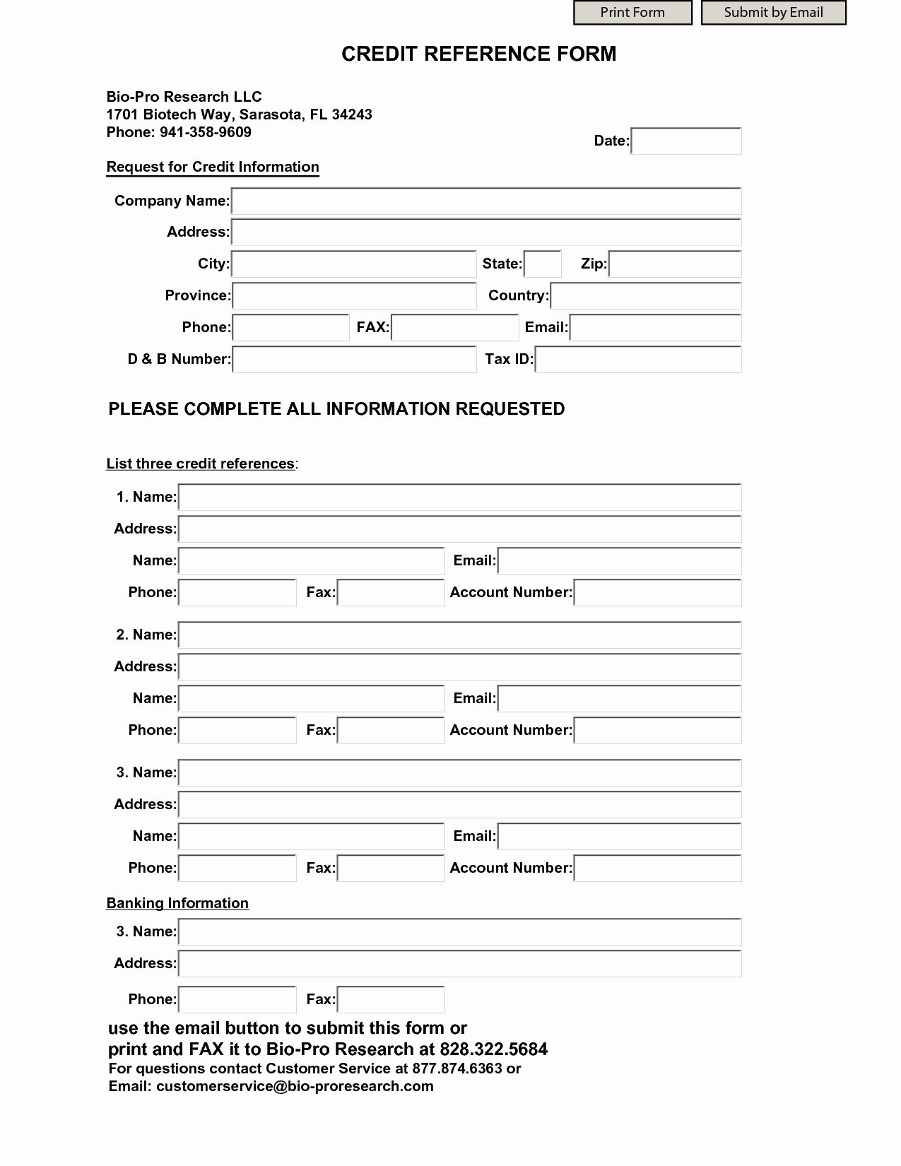 Credit Reference Form Template Fresh Business Credit Reference Form Templates Printable Free Reference Letter Template Letter Templates Free