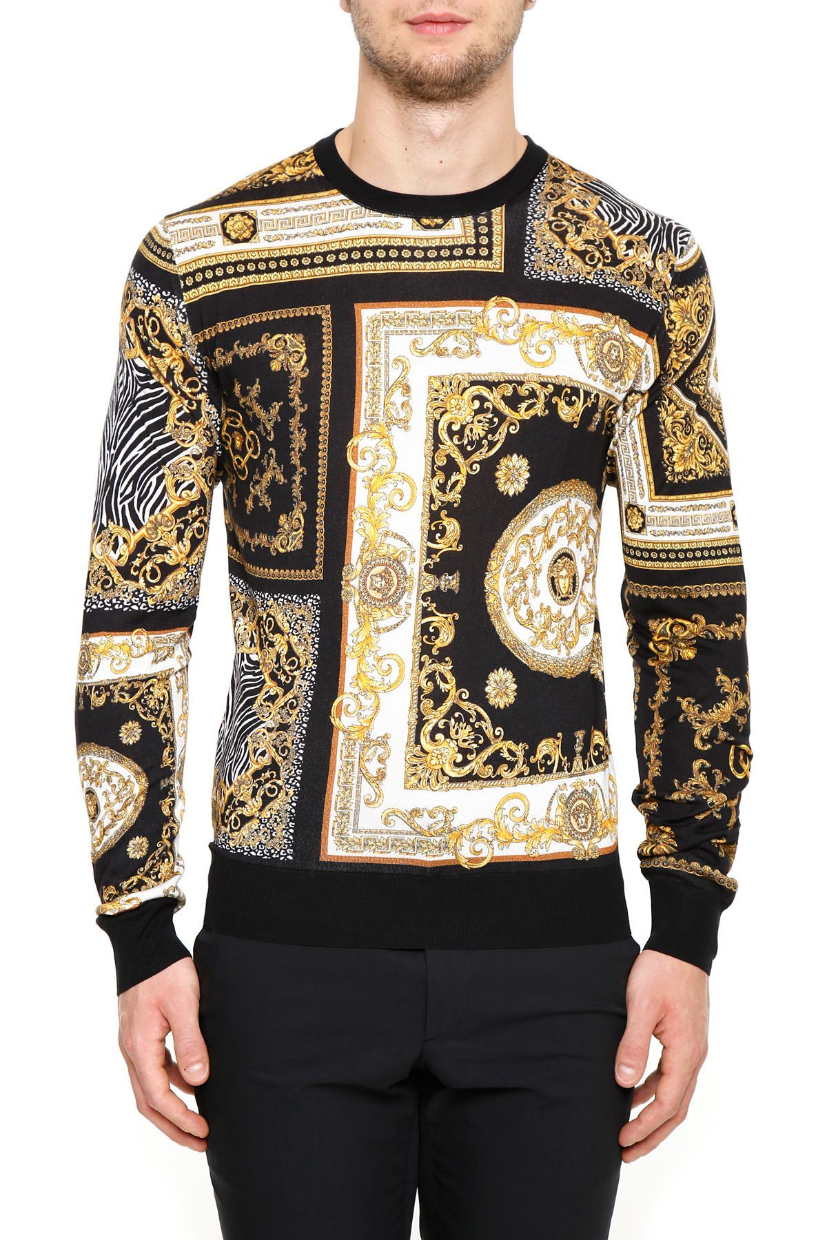 faac974aef VERSACE PRINTED SILK PULLOVER. #versace #cloth # | Versace Men in ...
