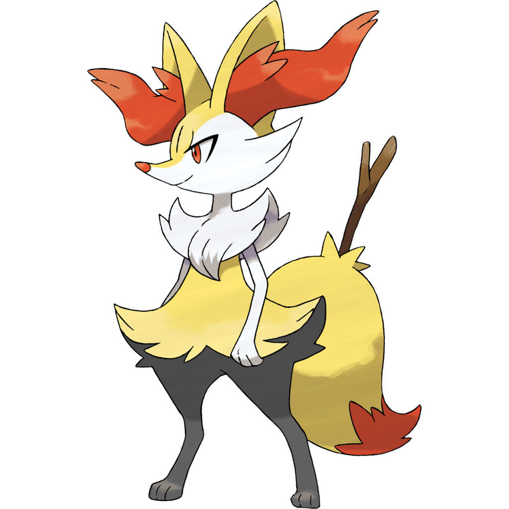 Once Fennekin Evolves Into Braixen It No Longer Eats Branches But Still Keeps A Tree Branch In Its Tail Which Seems To Calm The Pokmon