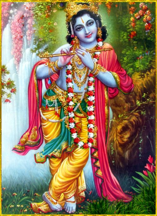 "☀ SHRI KRISHNA ॐ ☀ Artist: V.V.Sagar ""Nothing remains unachieved when the Supreme Personality of Godhead is pleased with someone. By transcendental achievement one understands everything else to be insignificant. One who engages in transcendental..."