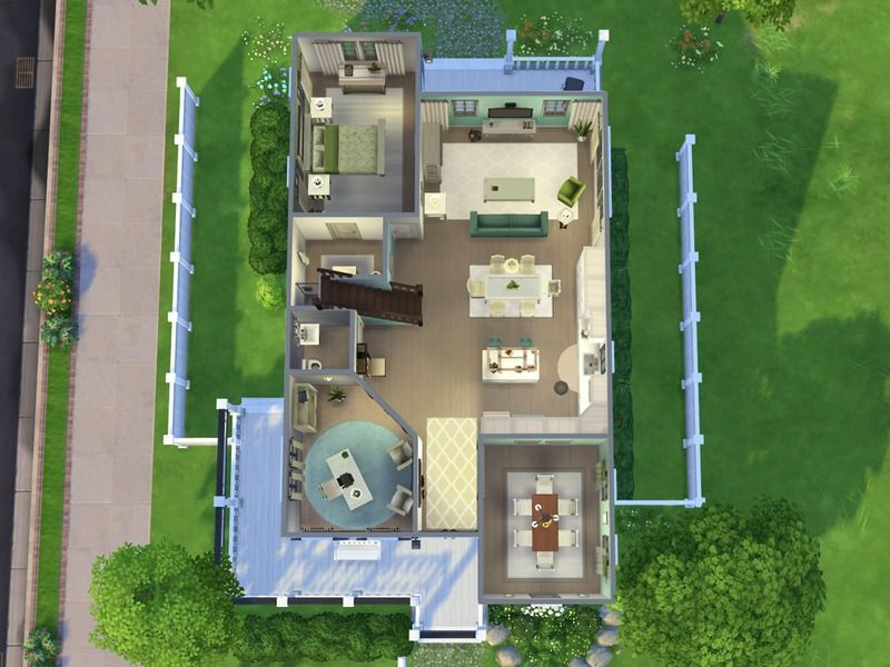 This Is A Large Family Home That Has 5 Bedrooms 3 Bathrooms And A Study It Is Perfect For Growing Families Foun Sims House Design Sims House Sims Building