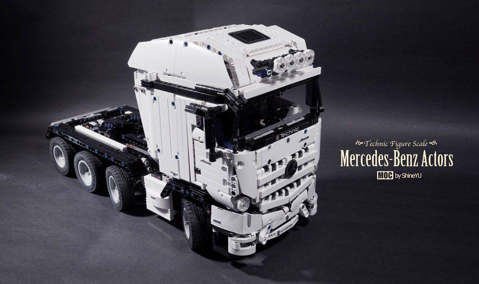 Lego Mercedes Benz Actros 8x4 By Shineyu Legos Lego Technic