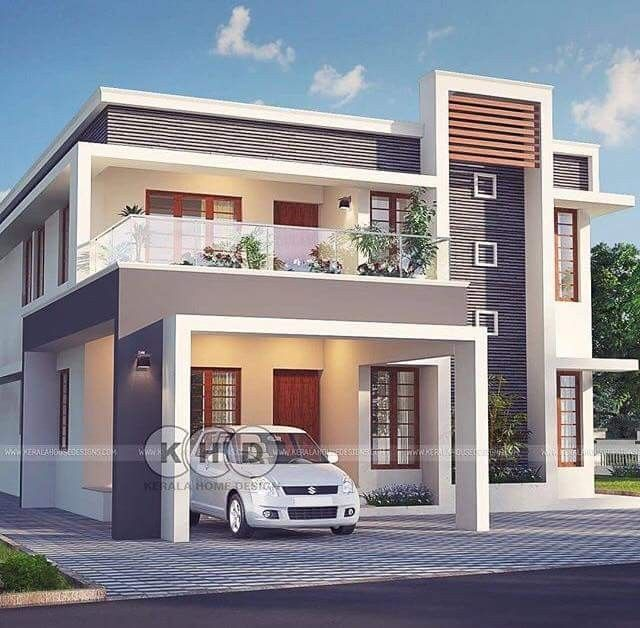 Pin By Rafi Mohamed On Shoaib Contemporary House Exterior Bungalow House Design House Window Design Small contemporary house plans kerala