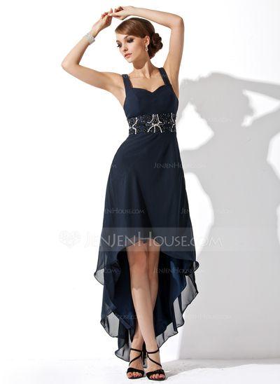 Homecoming Dresses - $127.99 - A-Line/Princess Sweetheart Asymmetrical Chiffon Homecoming Dress With Ruffle Beading (022009287) http://jenjenhouse.com/A-Line-Princess-Sweetheart-Asymmetrical-Chiffon-Homecoming-Dress-With-Ruffle-Beading-022009287-g9287