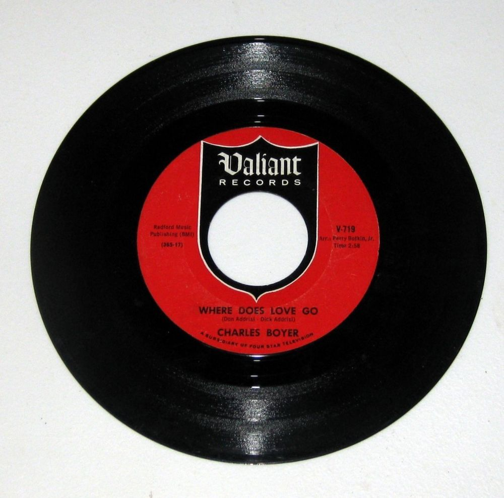 Where Does Love Go? Charles Boyer 45 RPM an Elvis Presley favorite