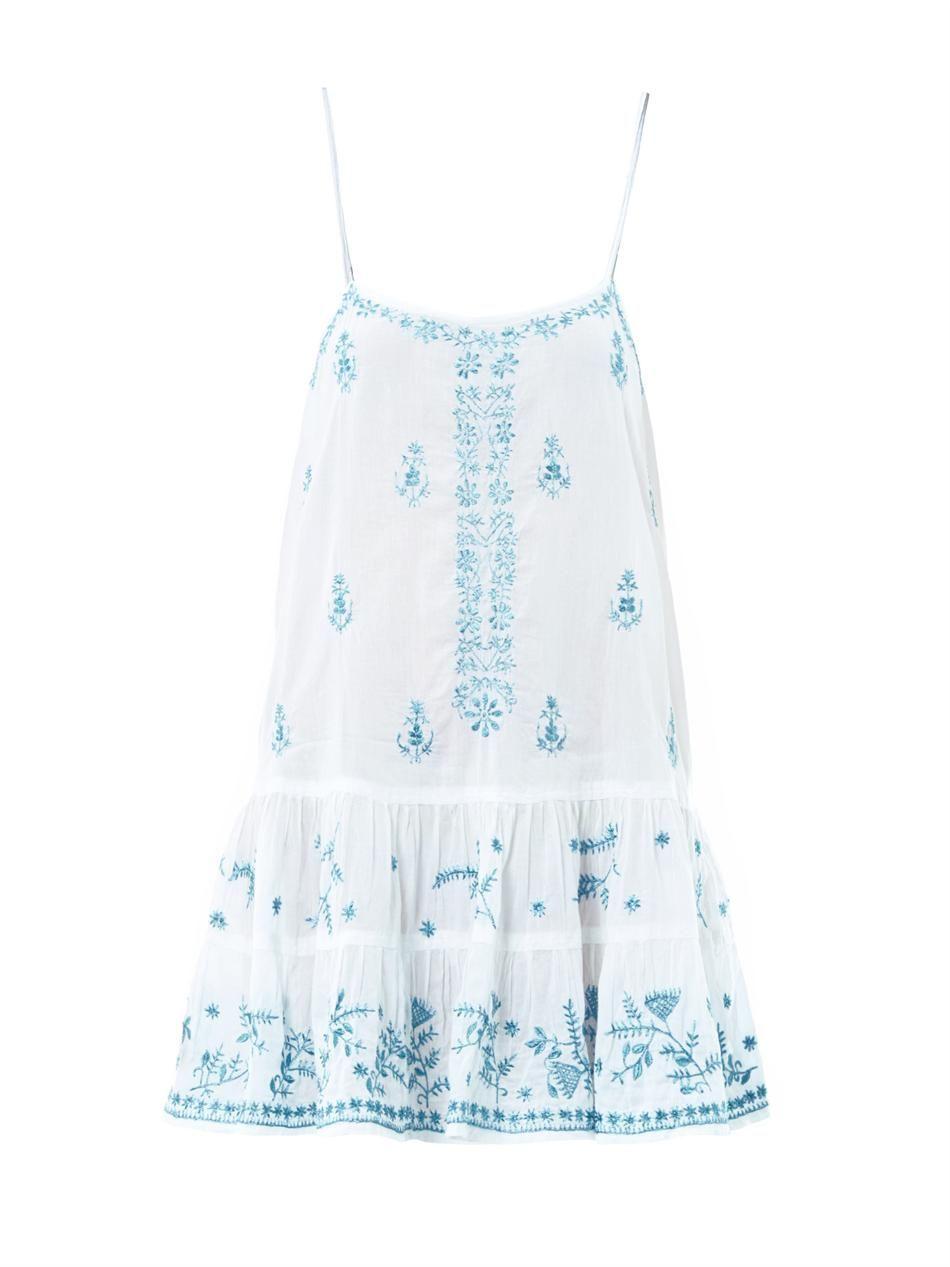 Embroidered cotton camisole | Juliet Dunn | MATCHESFASHION.COM