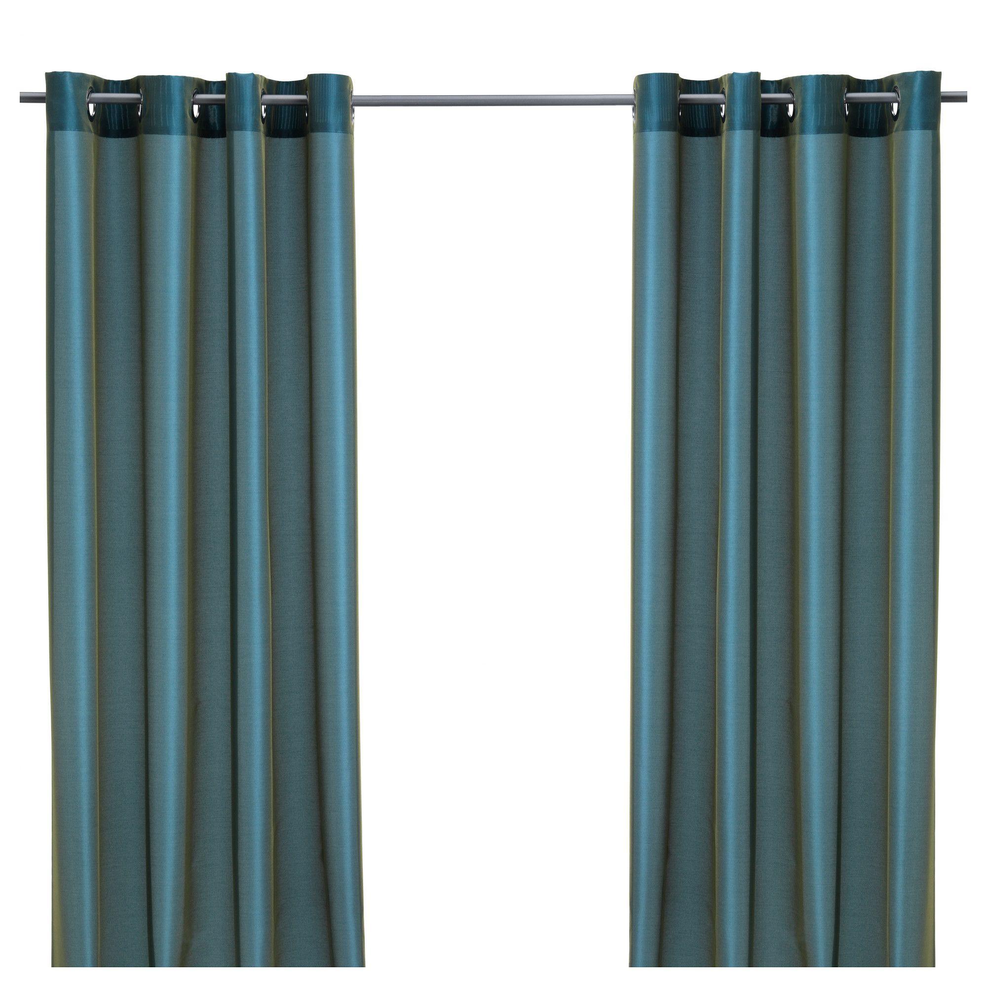 Ikea curtains blue - P Rlbuske Curtains 1 Pair Ikea