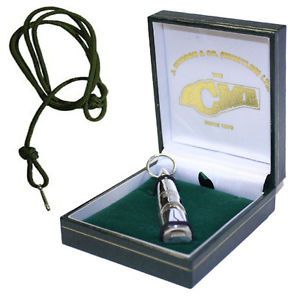 Acme Solid Sterling Silver Dog Training Whistle 212 Gun Dog