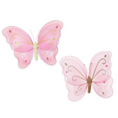 kidsline™ Mesh Pink Flower Wall Hanging - buybuyBaby.com