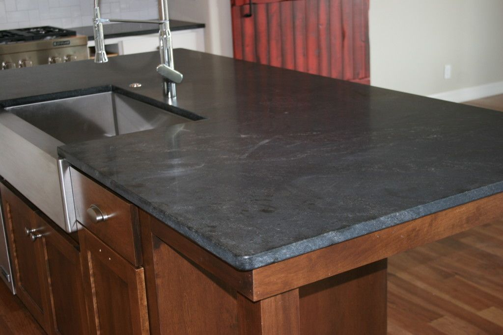 Kitchen Island With Negresco Honed Stone Top Notch Tops