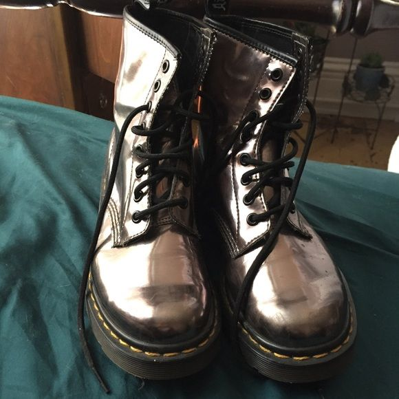 doc marten boots chrome worn a handful of times, like new Dr. Martens Shoes