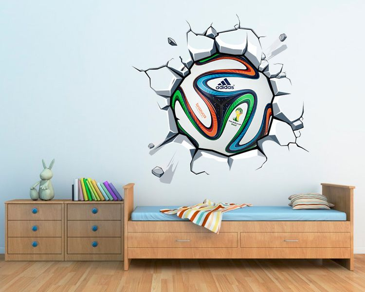 wandtattoos wandaufkleber fu ball wm gedruckt von wall decals auf kinderzimmer. Black Bedroom Furniture Sets. Home Design Ideas