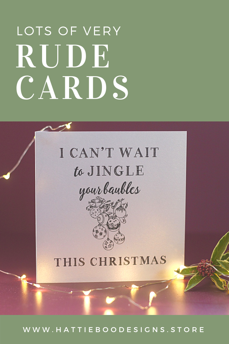 Rude christmas cards cards for men cards for lovers saucy cards