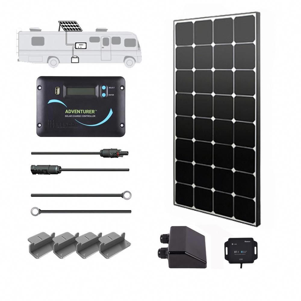100 Watt 12 Volt Monocrystalline Solar Rv Kit For Off Grid Solar System Solarenergy Solarpanels Solarpower Best Solar Panels Off Grid Solar Solar Panel System