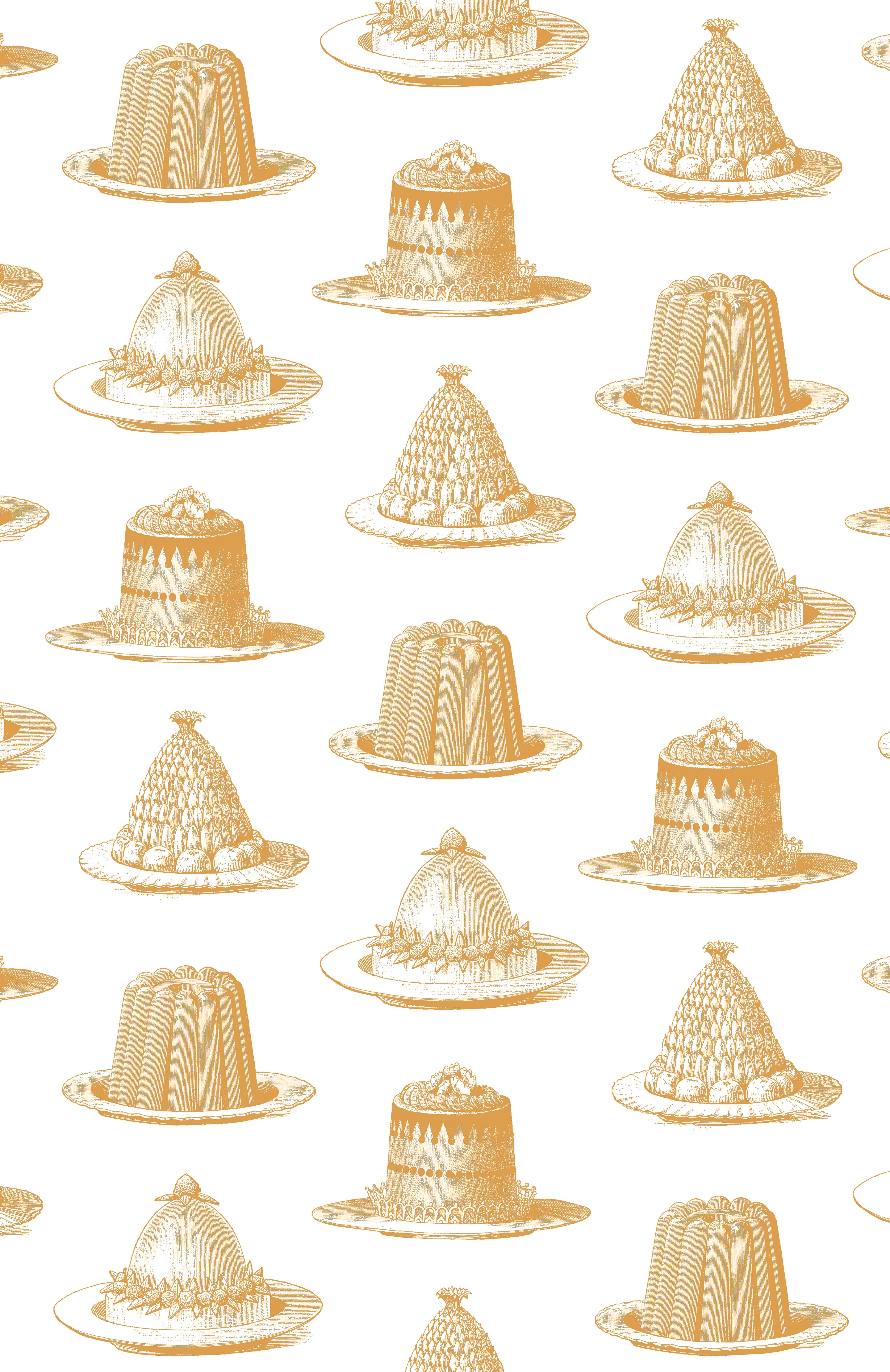Thornback & Peel Jelly & Cake wallpaper in gold