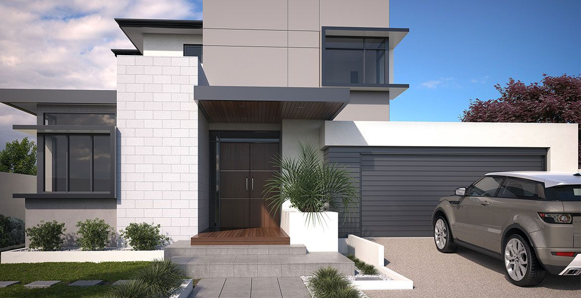 Check out destination living 39 s modern double storey home for Custom home designs melbourne