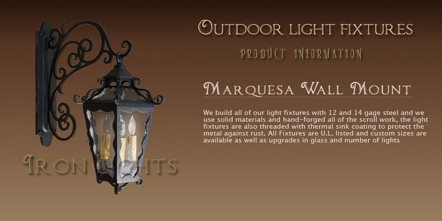 Hand forged lighting with spanish mediterranean styles outdoor hand forged lighting with spanish mediterranean styles outdoor light fixtures outdoor coach lights aloadofball Image collections