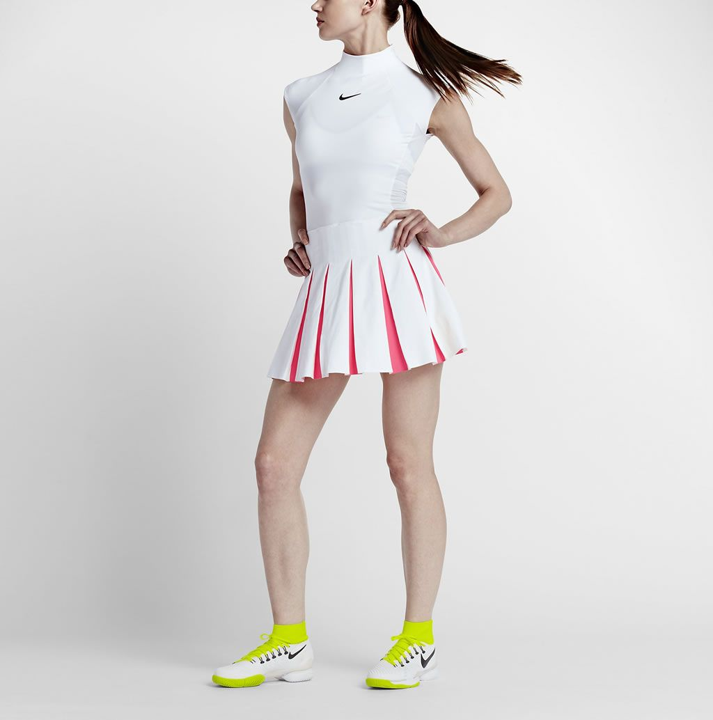 White Tennis Dress For Women By Nike White Tennis Dress Womens Tennis Dress Nike Tennis Dress [ 1034 x 1024 Pixel ]