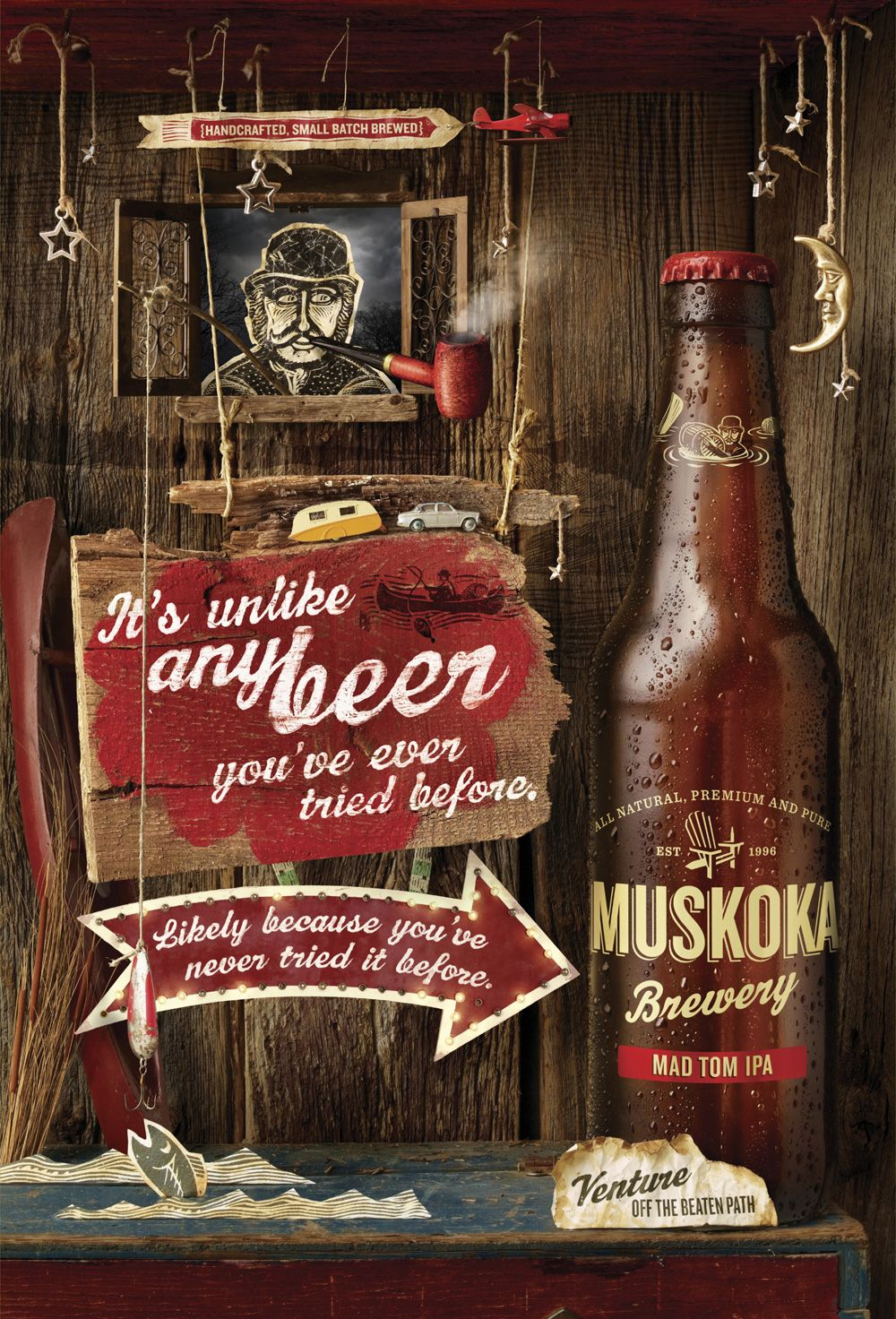 Http Www Ibelieveinadv Com Wp Content Uploads 2011 08 Muskoka Beer Mad Tom Ibelieveinadv Jpg Beer Design Beer Ad Beer Poster