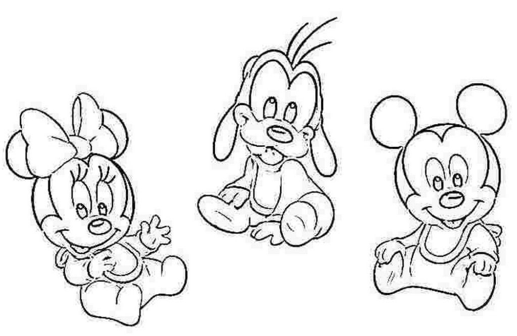 Disney Babies Mickey Goofy And Minnie Coloring Page Color Pictures