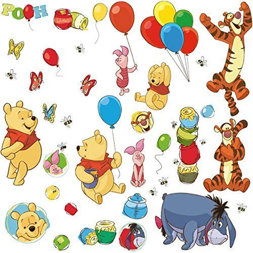 Wandsticker für die Kinderzimmer Wandgestaltung | Winnie Pooh ...