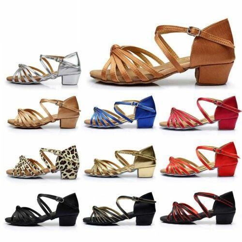 Details about Ballroom Salsa tango heeled latin dance shoes children girls women size 2441 Details about Ballroom Salsa tango heeled latin dance shoes children girls wome...