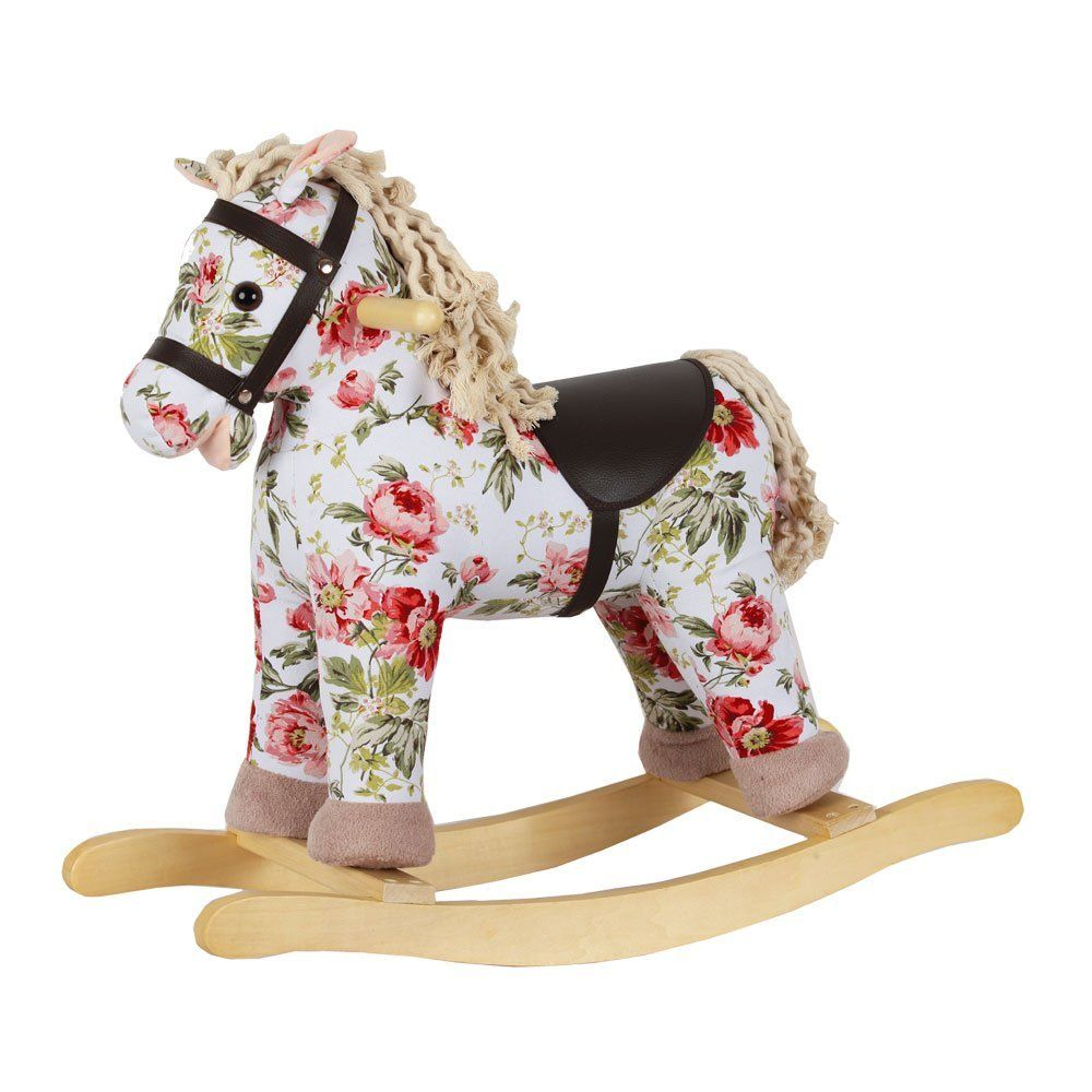 heritage deluxe 54cm vintage flower print rocking horse ava 1st