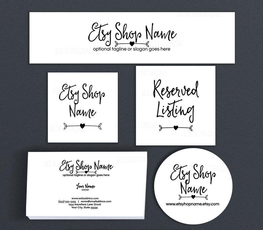 Simple Arrow Etsy Shop Cover Branding Package  - Ella