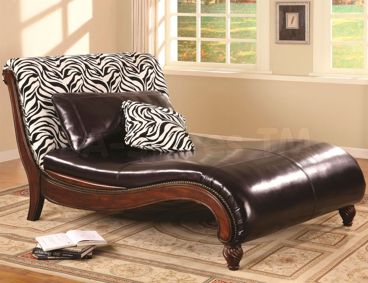 Leather Chaise Lounge Sofa Furniture Exotic Classic Brown Leather Chaise Lounge Sofa With Cool Zebra Pillows : chaise lounge sofa - Sectionals, Sofas & Couches