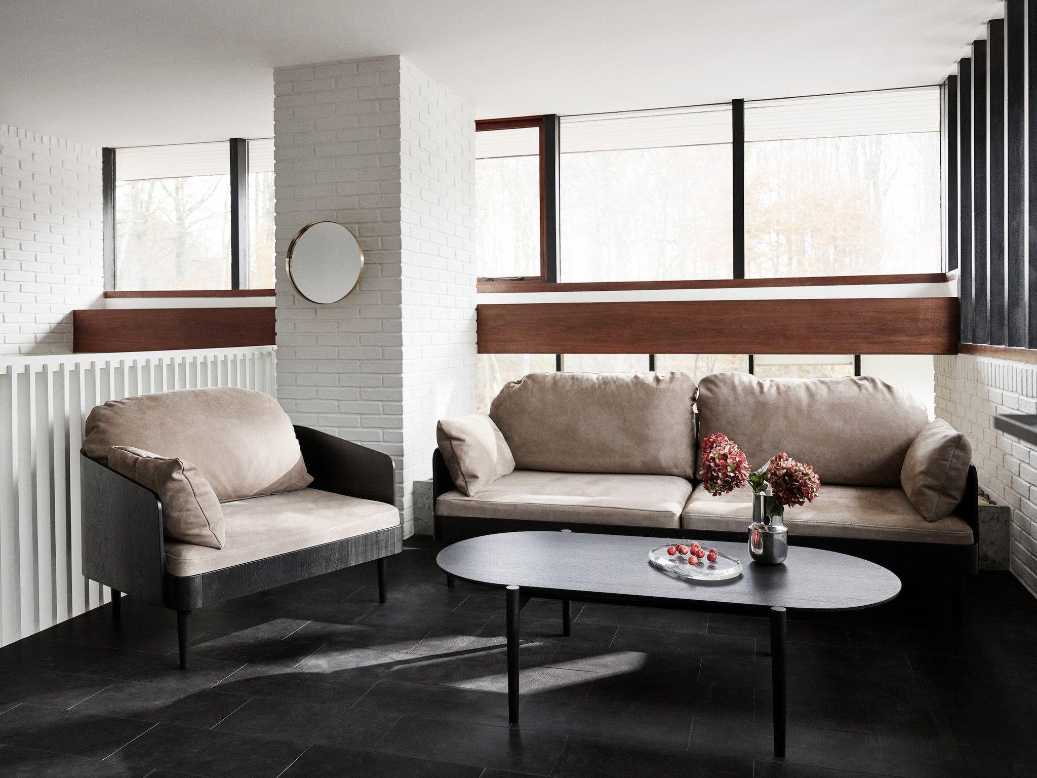 septembre chair, black ash / light gray - sofa from menu, Innenarchitektur ideen