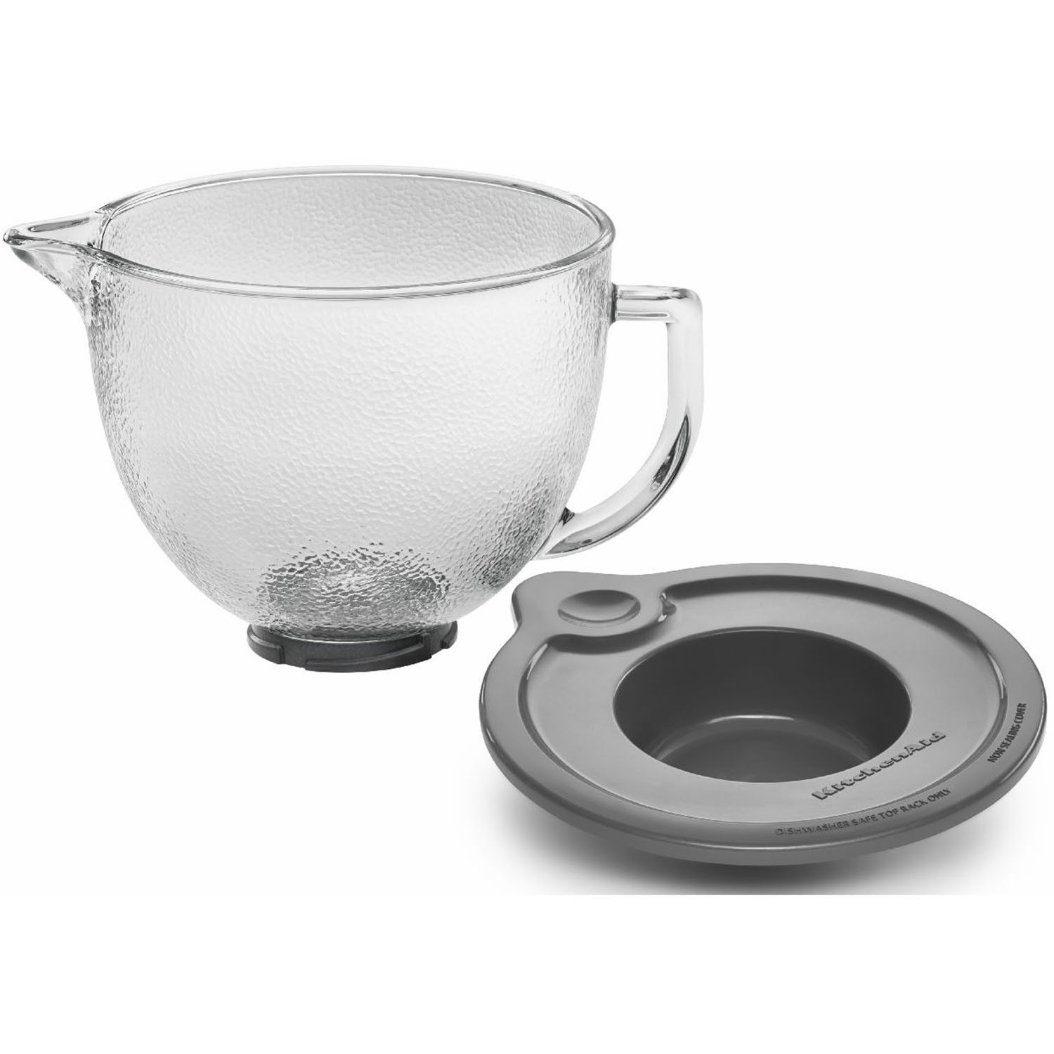 5 Qt. Hammered Glass Bowl for Tilt-Head Stand Mixers ...