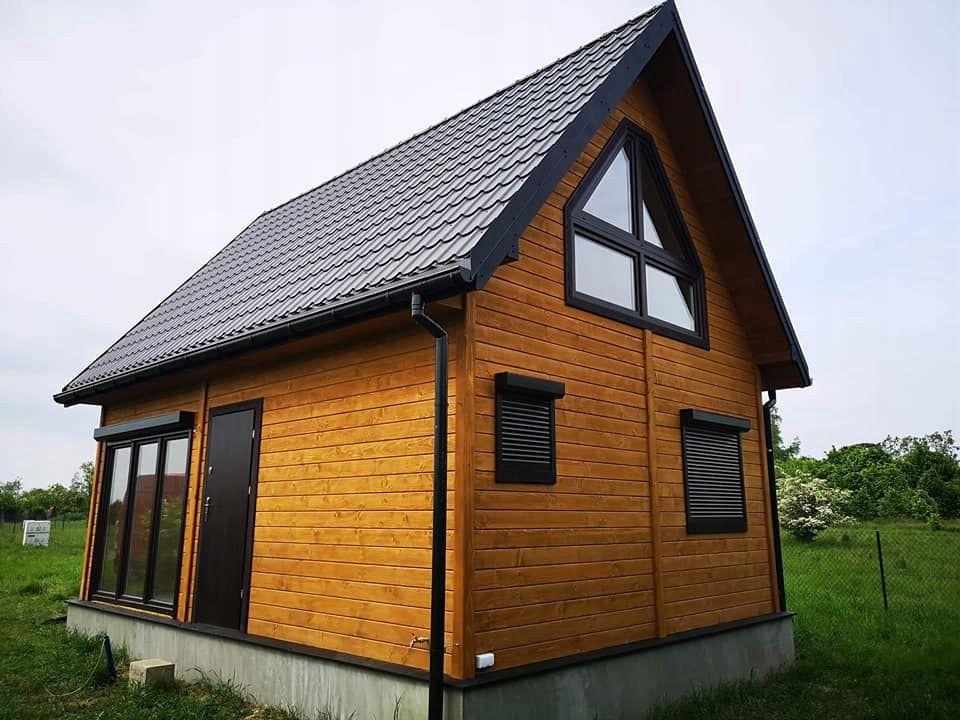 Domy Domki Z Drewna Letniskowe Bez Pozwolenia 70m2 8920243628 Oficjalne Archiwum Allegro In 2021 House Styles House Outdoor Structures