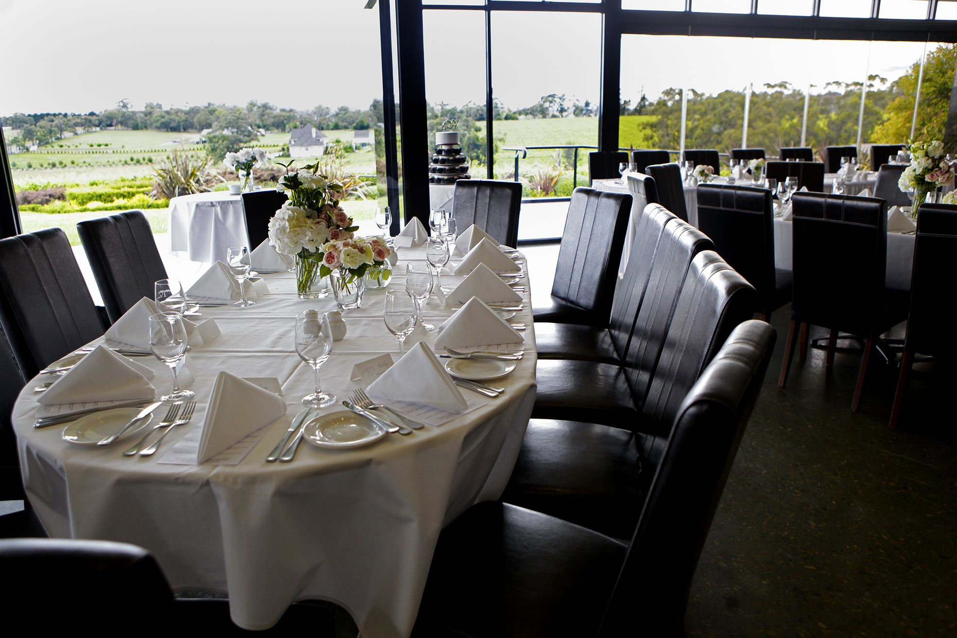 Wedding Reception Set Up At Vines Restaurant In The Yarra Valley