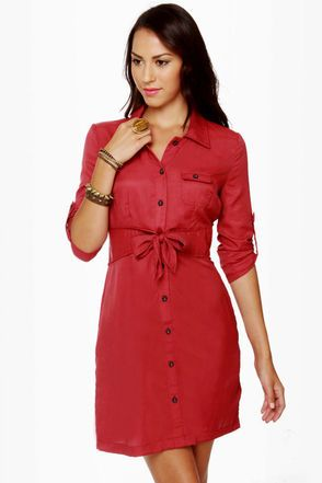 Tulle Day Camp Red Shirt Dress | Red shirt dress, Camping and ...