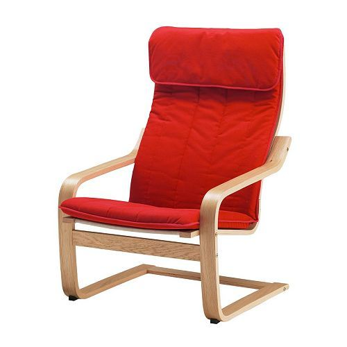 Ohrensessel ikea rot  POÄNG Sessel, Eichenfurnier, Ransta rot | Poäng sessel, Eiche und Sessel