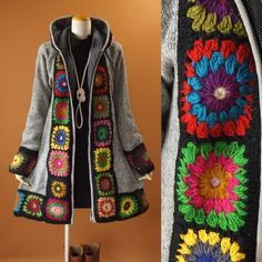 Cappotto in maglia cappotto motivo floreale parka cappotto in maglia 1272g: 1272g: visage souriant fine! -Online Shopping-Yahoo! Shopping