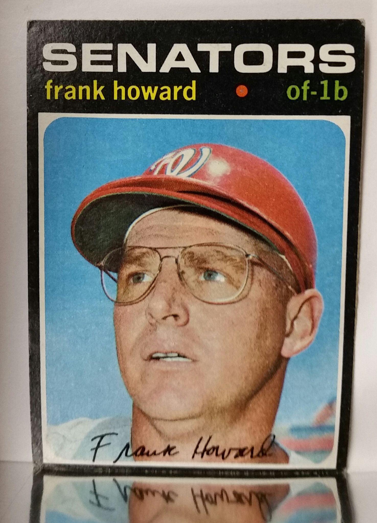 1971 topps 620 frank howard outfield washington