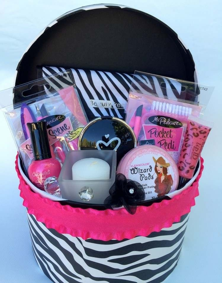 diy geschenkideen teenager mädchen geschenkkorb schminke #diy #gifts ...
