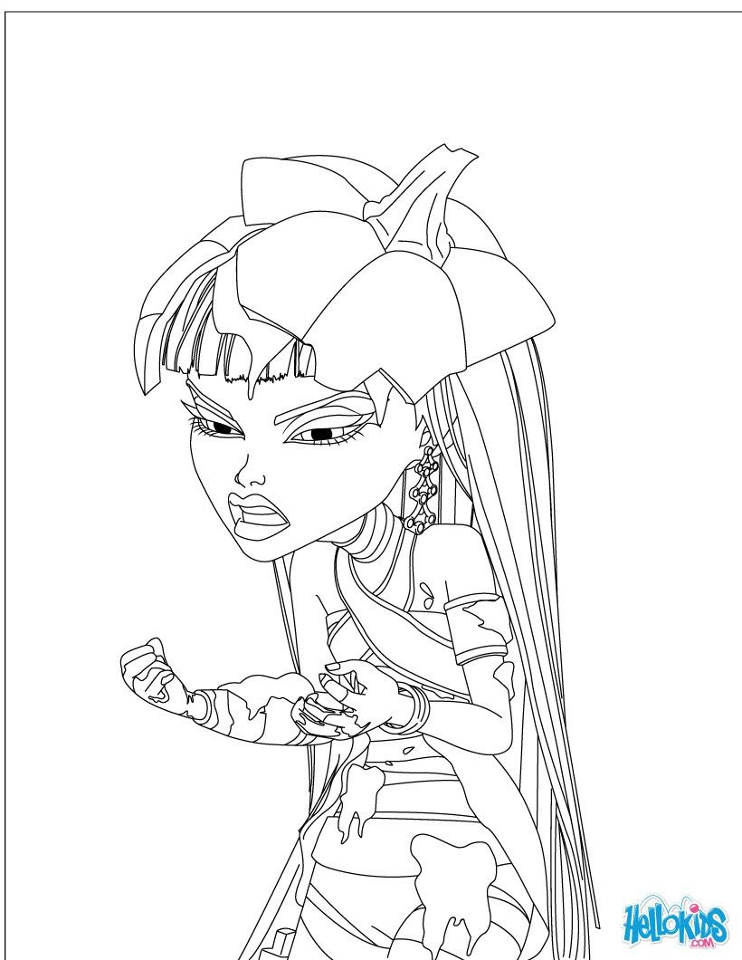 Coloringsco Monster High Freaky Fusion Coloring Pages To Print For Girls