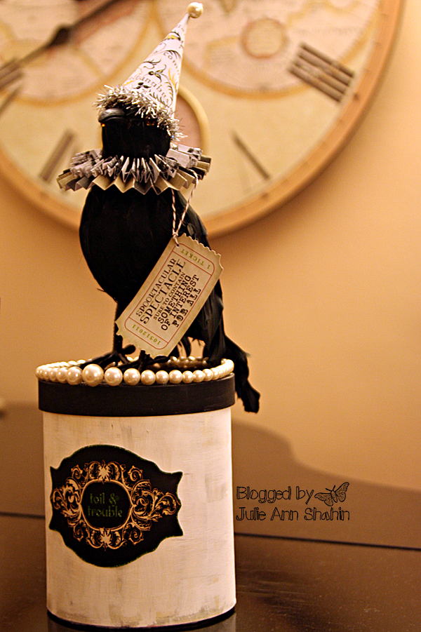 Saturdays Are Fun: D.I.Y. Altered Hybrid Crow Halloween Decor | Studio Tangie -Would be a cute paper mache project.