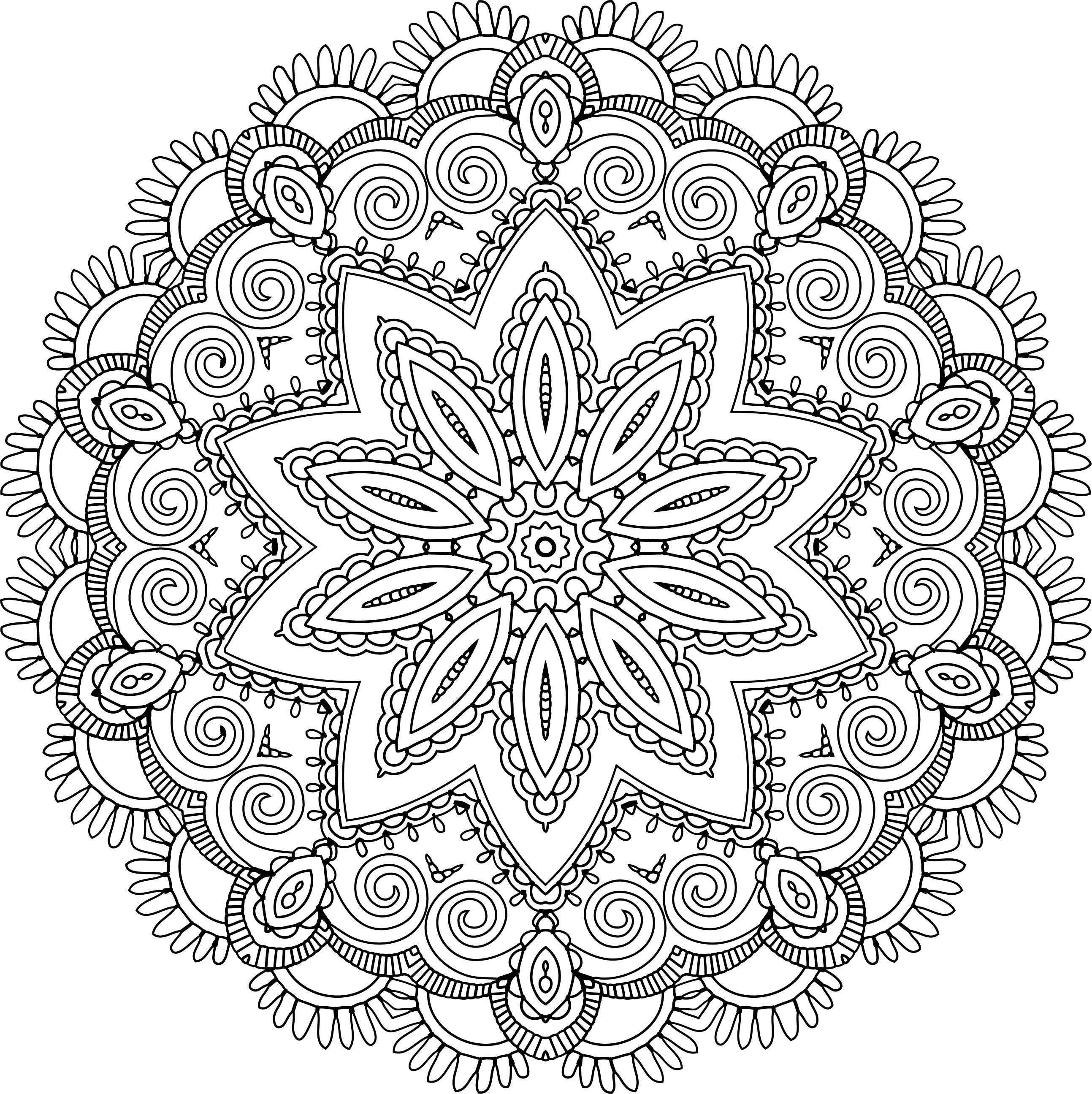Paisley Flower Heart | Free Adult Coloring Pages | Free Printable ...