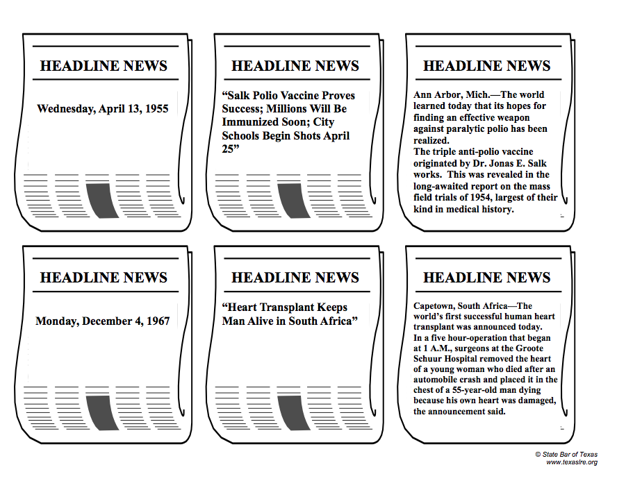 headlining progress  extra  extra  in this activity  students will match dates  newspaper