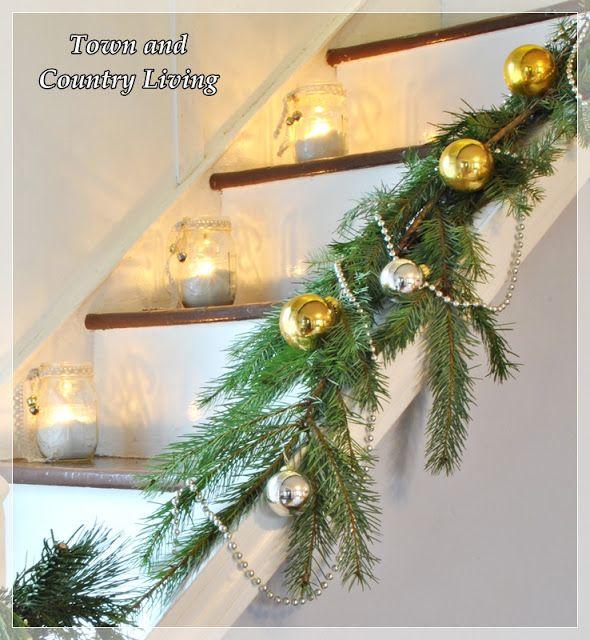 Stairway to Christmas Christmas mason jars, Jingle bells and Stairways