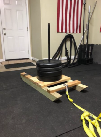 diy weight sled home build soflete workout fitness