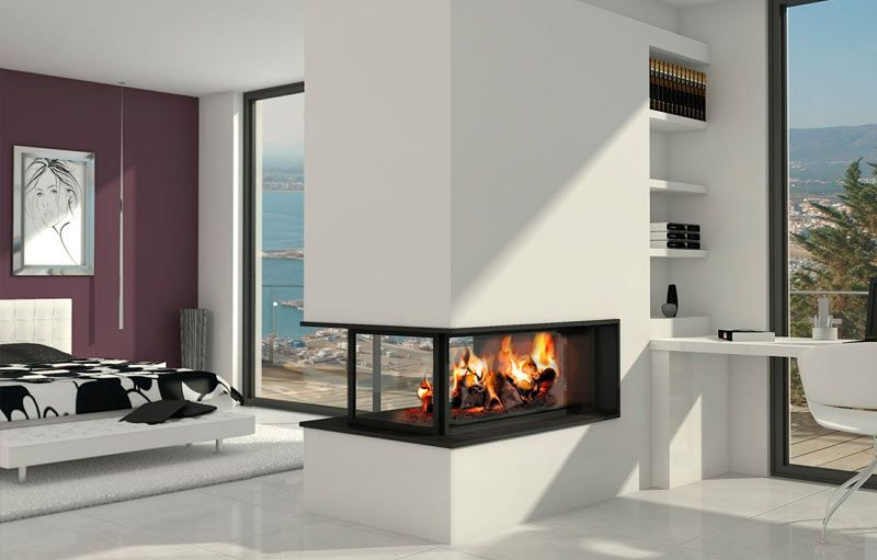 Chimenea sotogrande moderna chimeneas pinterest for Estufa hogar moderna