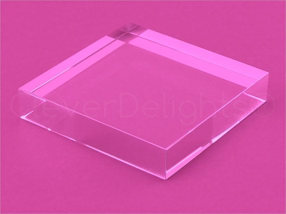 3 Square Glass Tile Clear Transparent Tiles Solid Etsy Acrylic Display Case Glass Tile Square Glass