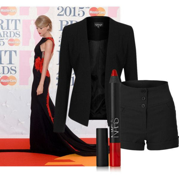 Taylor Swift 2015 BRIT Awards by London EC on Polyvore featuring Topshop and NARS Cosmetics